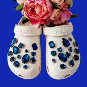 Crocs Shoe Jewel Charms SAPPHIRE
